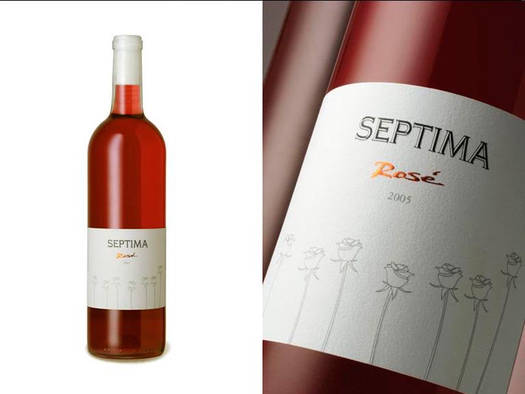 """BODEGA SÉPTIMA (Argentina) / """"SÉPTIMA"""" Rosé / Branding & Packaging Design"""